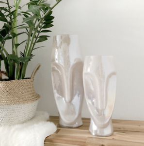 Pearlescent Face Vase