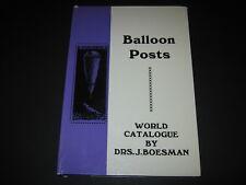 DRS. J. Boesman: balloonposts World Catalogue 1783-1968