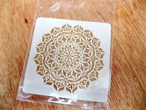 Mandala No.2 Tile or Fabric Crafting Stencil Washable and Reusable Mylar