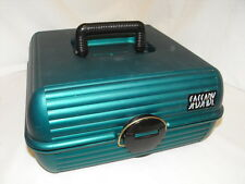 Sassaby Deluxe LARGE Teal Case Train Makeup Jewelry Crafts Organizer Tote