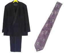 90s 2000s Tuxedo Sergio Valentino Collection Black Vtg 60L with Valentino Tie