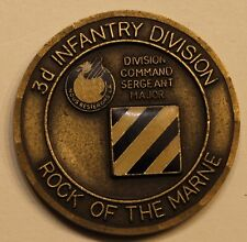 3rd Infantry Division Command Sergent Major Army Challenge Coin