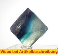 6535 polychromer Fluoritspaltoktaeder ca2,3cm Fluorite Octahedron diamond MOVIE