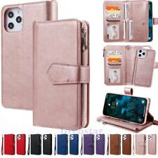 For iPhone 12 Pro Max 11 XR SE 8 6s Magnetic Removable Leather Wallet Case Cover
