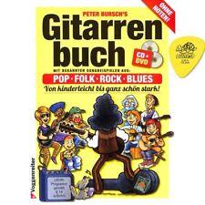 Gitarrenbuch Band 1 - Gitarrenschule ohne Noten von Peter Bursch mit Plektrum