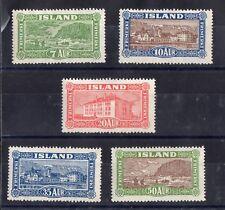 ISLANDE: SERIE COMPLETE DE 5 TIMBRES NEUF* YTN°115/119 Cote: 225,00 €