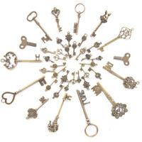 40PCS DIY Mixed Vintage Key Charms Pendant Steampunk Bronze Jewelry FindingsHGU