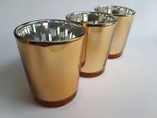 48 ROSE GOLD Votive Tealight Candle Holder BULK BUY 48 PACK Parties Weddings
