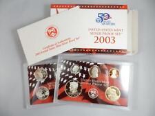 2003 US SILVER PROOF SET, BOX & COA, STATE QUARTERS, COMPLETE OGP