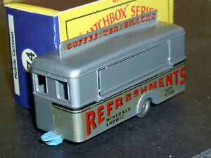 Matchbox Lesney Mobile Refreshments Canteen 74 a7 silver SPW SC7 VNM crafted box