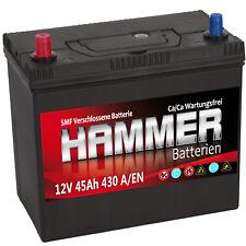 Autobatterie Hammer 12V 45Ah +Links Asia Starterbatterie ersetzt 40 44 46 50 Ah