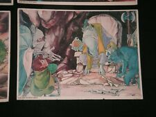 Vtg 1977 The Hobbit Movie Poster On Board Bilbo & The Great Goblin Lord Of Rings