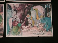 Vintage 1977 The Hobbit Movie Poster - Bilbo & The Great Goblin - Lord Of Rings