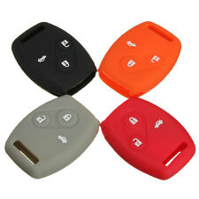 Colored Remote Key Fob Protect Case Cover Silicone Rubber For Honda Civic Accord