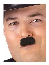 Charlie Chaplin Moustache Western Fake Novelty Facial Hair Funny Mustache Black