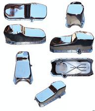 86-02 SBC Chevy Chrome Oil Pan - Stock Capacity 305 350 Vortec 1 pc Rear Seal
