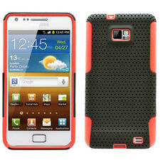 SAMSUNG i9100 ATTAIN GALAXY S2 SPORTY HYBRID 2 TONE CASE BLACK/RED
