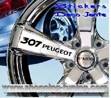 8 STICKER AUTOCOLLANT LOGO JANTE PEUGEOT 307 307CC
