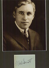 MACK SENNETT KEYSTONE STUDIOS BATHING BEAUTIES  SIGNED AUTOGRAPHED DISPLAY UAAC