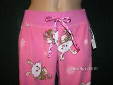New Aeropostale Junior Girls Pink Bunny Fleece Bottom Lounge PJ Pajama Pant XS