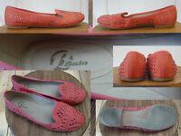 Bata Schuhe Slipper BallerinasSommer Textil flache Sohle Rot Strass 38 Wie Neu