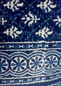 Ethnic Bedspread Ralli Queen SIze Vintage Kantha Quilt Indian Handmade Blanket