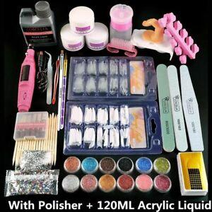 Acrylic Nail Kit Of Milling Cutters For Manicure Gel Varnishes Set