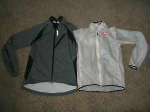 WOMENS SUGOI SEAM SEALED ATHLETIC RAIN JACKET & CASTELLI WINDBREAKER SIZE MEDIUM