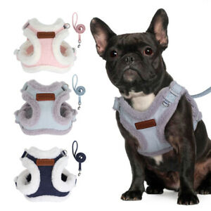 Fashion Winter Warm Fleece Dog Puppy Harness Vest with Lead Cat Pet Clothes Pug