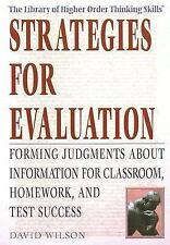 Strategies for Evaluation: Forming Judgments about Information for Classroom, H