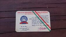 VTG 1956 MEXICAN OBSOLETE WORKER ACCREDITATION LABOR UNION CHAMBER OF DEPUTIES