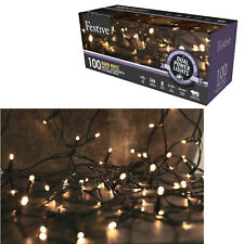 100 LED Christmas Xmas Lights Dual Powered Outdoor/Indoor Fairy - Warm White