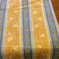 Lorenzo original design light weight upholstery fabric, Blue & gold 186 x 138 cm