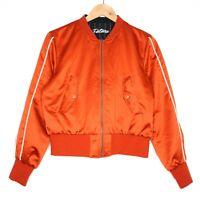 Moussy Mens Japanese Designer Orange and Black Reversible Bomber Jacket Size 1