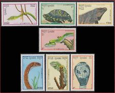 CAMBODGE Kampuchea N°844/850** Reptiles serpent, Snake 1988, CAMBODIA 905-911 NH