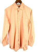 Peter Millar Mens Dress Shirt Medium Button Down Orange Long Sleeve
