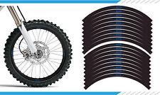 "EXCEL Yamaha Blue - YZ / YZF 125 250 450 Motocross  Wheel Rim Decals 21"" 19"" 17"""
