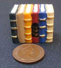1; échelle 12 maison de poupées bloc de six résine livres papeterie bibliothèque étude hw