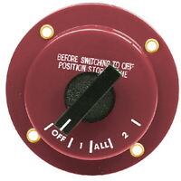 Flush or Surface Mount Battery Selector and Disconnect Switch for Boats