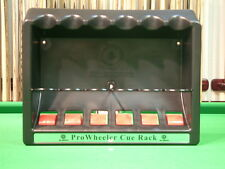 PRO Wheeler SNOOKER/POOL CUE RACK/STAND - CAN HOLD UP TO 6 CUES inc-Chalk !
