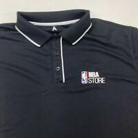 Antigua Polo Shirt Mens XL Black Short Sleeve NBA Store Fanatics Regular Casual