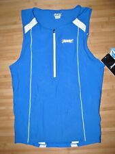 ZOOT Shirt JERSEY Size XL Nylon Spandex TRI TRIATHLON Blue PERFORMANCE  Tank NWT