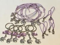Unicorn Party Bag Fillers Friendship Bracelets Keyrings & Phone Cord X18 PIECES