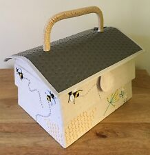 SEWING BASKET BOX FABULOUS BEE HIVE DESIGN SMALL SIZE SUPER QUALITY