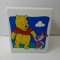 Classic Pooh Disney Winnie The Pooh Piglet Plastic Tissue Box Cover Nursery