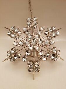 Glitz + Glimmer Hanging Metal & Plastic Dimonds Snowflake Tea Light holder