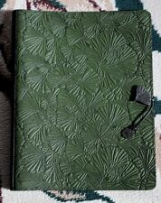 Oberon Design Leather XL Journal / Sketchbook Cover - GINGKO in Fern