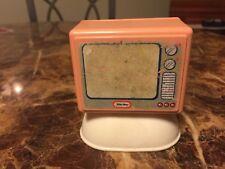 Little Tikes Vintage Dollhouse Furniture TV Television Set