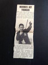 L1-8 Ephemera 1963 Article Paul Conti Crossgates Leeds Football Referee