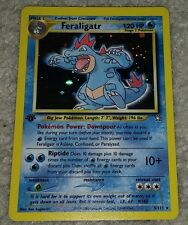 1st Edition Feraligatr 5/111 Ultra Rare Holo Foil Pokemon Card Neo Genesis